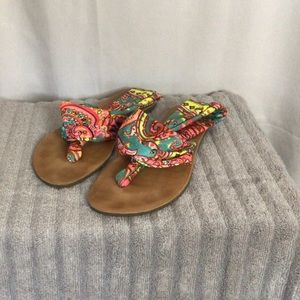Colorful cloth sandals